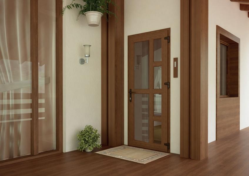 дизайн входных дверей из пвх